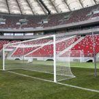 Bramka stacjonarna do piłki nożnej profesjonalna aluminiowa 7,32x2,44 m