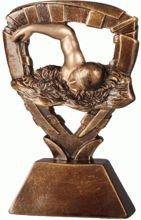 Statuetka ( figurka ) odlewana pływanie RE301
