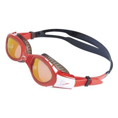 Okularki do pływania dziecięce Speedo Futura Biofuse Flexiseal Mirror Black/Red